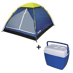 Kit Camping Barraca Mor 4 Pessoas + Caixa Term. 34L
