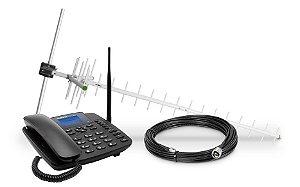 KIT Telefone Celular Fixo 3G CFA 6041