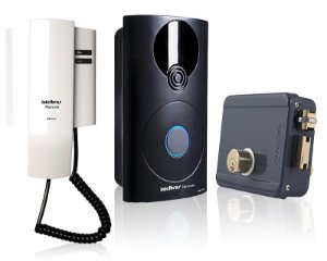 Kit Interfone Intelbras Ipr 8000 e Fechadura Intelbras FFX 1000