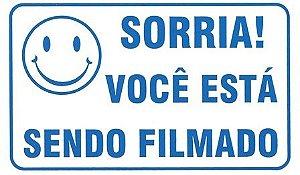 Placa Sorria você Está Sendo Filmado 11x18