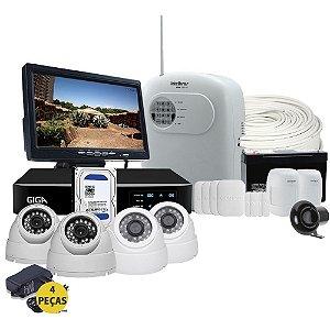 Kit Completo Segurança Residencial Alarme e Cftv