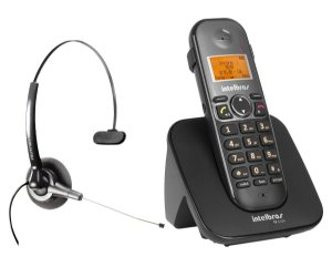 Kit Telefone Sem Fio Intelbras Ts 5120 + Headset Felitron