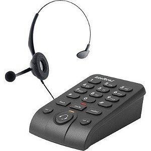 Telefone Headset Intelbras com Base Discadora HSB50
