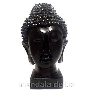 Cabeça de Buda Hindu Preta em Gesso