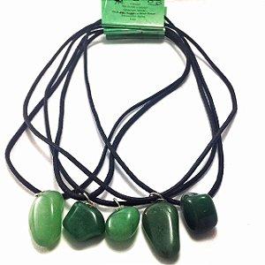 Colar Pedra Signo Cancer Quartzo Verde