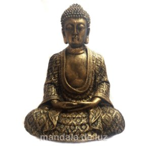 Estátua de Buda Hindu Dourado 22cm