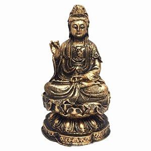 Estátua Deusa Kuan Yin 10cm