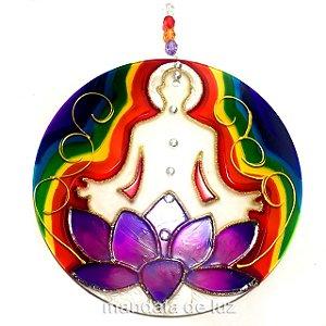 Mandala de Flor de Lotus Chakras 18cm - 282