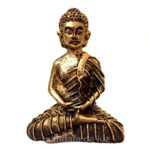 Mini Buda Hindu Dourado 9,5cm