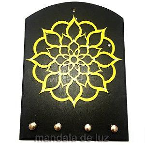 Porta Chaves Mandala Mdf Amarelo
