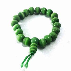 Pulseira de Buda 20 Contas de Vidro Verde