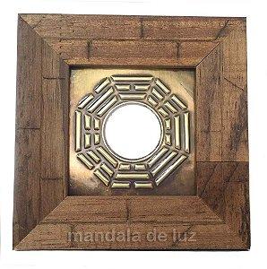 Quadro Baguá de Madeira Clara Espelho 12cm 765