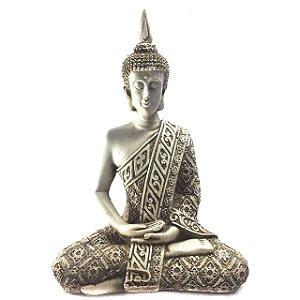 Buda Hindu Médio Marfim 21cm
