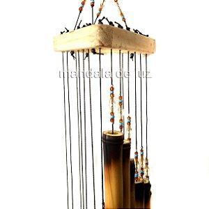 Sino dos Ventos de Bambu Madeira Mensageiro