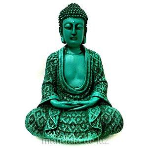 Estátua de Buda Hindu Verde 22cm