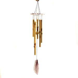 Mobile Sino dos Ventos de Bambu Folha 60cm