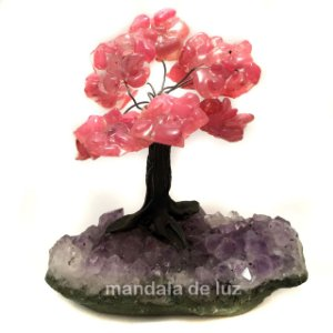 Árvore de Quartzo Rosa e Ametista Pedras Naturais