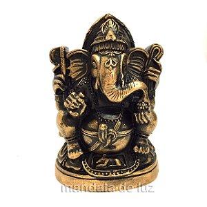 Ganesha de Gesso Dourado 11,5cm