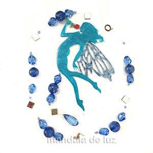 Fio de Luz Fada Azul Flor 84cm