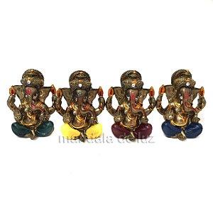 Mini Ganesha Colorido Deus Prosperidade 5cm