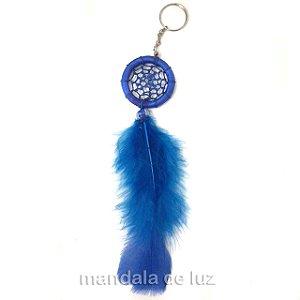 Chaveiro Filtro dos Sonhos Azul 20cm