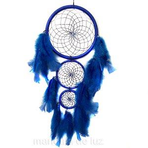 Filtro dos Sonhos 3 Aros Azul 55cm