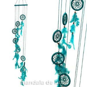 Mobile de Filtro dos Sonhos Verde Água Tiffany 95cm