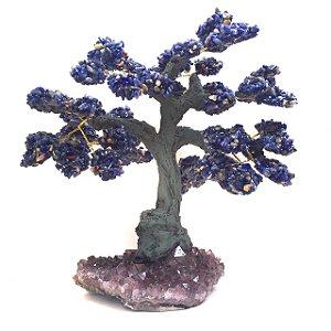Árvore de Pedra Sodalita com Drusa Ametista 21cm