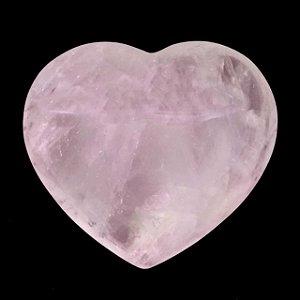 Coração de Cristal de Quartzo Rosa