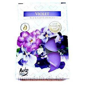 Velas Aromáticas Perfumadas Violet Tealights Scented Candles