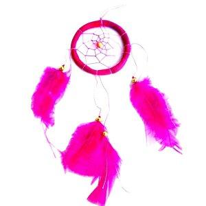 Filtro dos Sonhos 1 Aro Rosa 25cm
