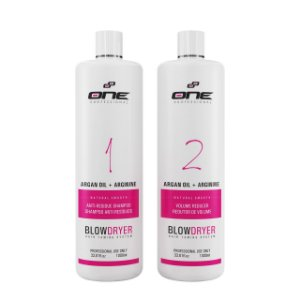 One Two Step progressiva a base de argan kit 2 passos 1lt  ( PROMOÇÃO )