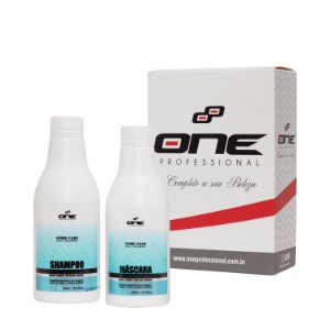 One Home Care com 2 passos; Shampoo e Máscara 300 ml