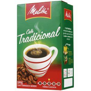 Café à Vácuo Torrado e Moído Tradicional MELITTA Caixa 500g