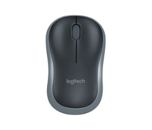 Mouse Logitech M185 Wireless - Cinza e Preto