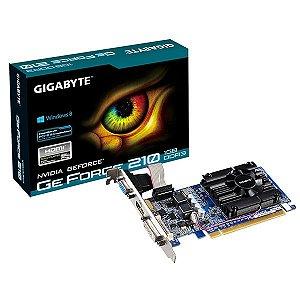Placa de Vídeo NVIDIA GT 210 1GB DDR3 64B PCI-E GIGABYTE LOW PROF GV-N210D3-1GI REV6.0