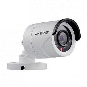 Camera Hd Hikvision 3,6mm Bullet 1mp 720p IR 20mts Plastico DS 2CE16C0T IRPF 4X1