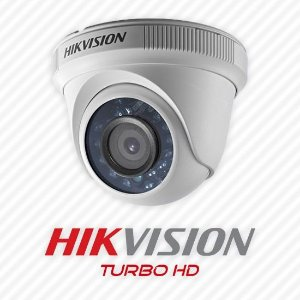 Camera Hd Hikvision 2,8mm Dome 2mp 1080p IR 20mts Plastico DS 2CE56D0T IRPF 4X1
