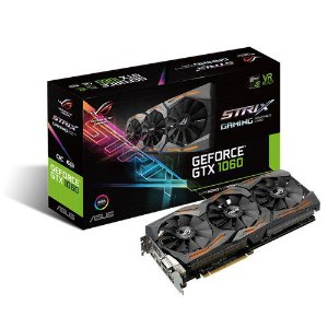 Placa de Vídeo GTX 1060 6GB STRIX ASUS STRIX-GTX1060-O6G-GAMING 90YV09Q0-M0NA00
