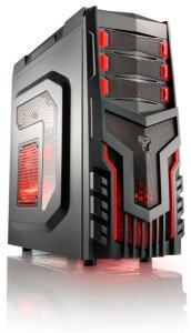 Gabinete Gamer Warrior Sem Fonte com Cooler Led Vermelho - GA124