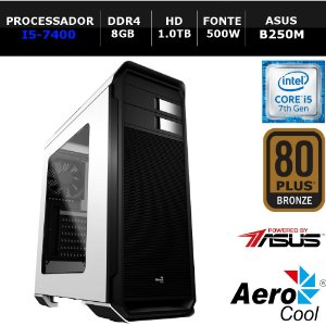 Computador Gamer I3 Aero 500, I3-7100, 8GBD DDR4, HD1.0 TB, ASUS H110, 500W - NTC 8135