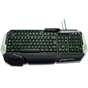 Teclado Gamer Multilaser Warrior Preto e Prata Com Led USB - TC189