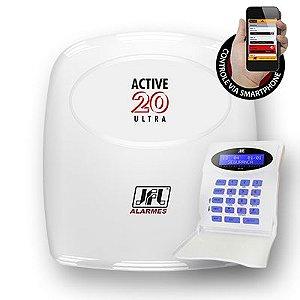 Central de Alarme Monitorável Active 20 Ultra C/ Teclado até 22 Zonas - JFL