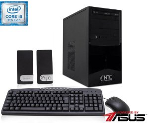 Computador NTC Intel Core i3 7100, 4GB, HD 1.0TB, DVD, KIT,  Asus H110M-C/BR, 300W - 4105 AS7G