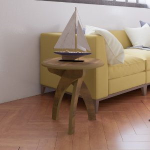 Mesa de Centro ou lateral Jade Pinho Artely