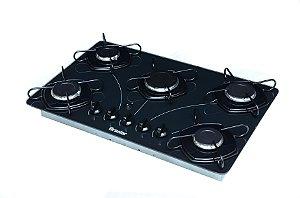 Cooktop à Gás Braslar 5 Bocas 10050017 POP Acendimento Automático Preto
