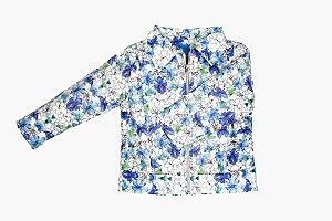 Jaqueta Corino Floral Blue
