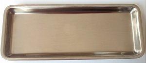 Bandeja inox lisa  22x09x1,5cm, marca Fava , modelo Mileniun 289042