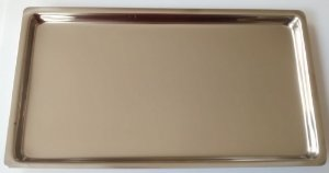 Bandeja inox lisa  22x12x1,5cm, marca Fava , modelo MF 300042