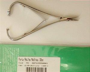 Porta agulha Mathieu 10cm, inox, marca Thimon, modelo TH0493